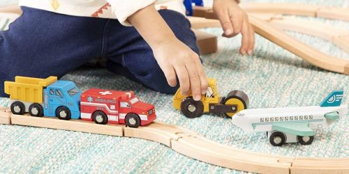 Wooden Vehicle 6-Piece Sets Only $9.69 on Amazon | Trains, Rescue Vehicles & More