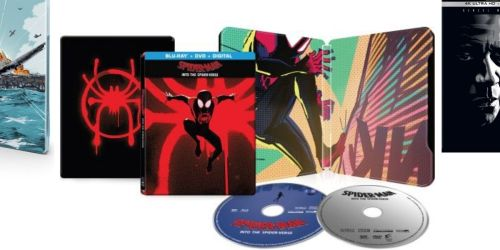 Spiderman: Into the Spiderverse Blu-ray/DVD + Digital SteelBook Only $9.99  (Regularly $30) + More SteelBook Deals at Best Buy
