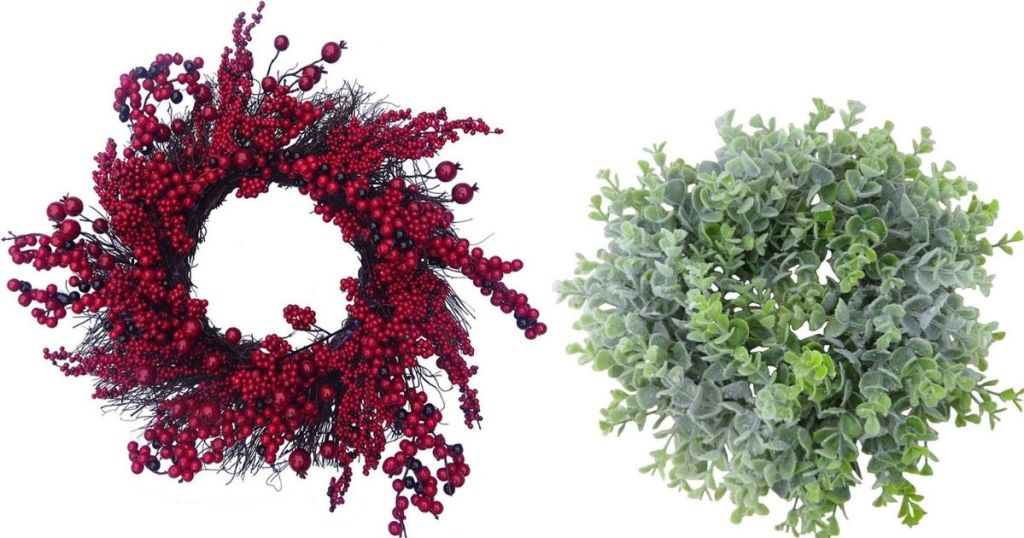 two wreaths