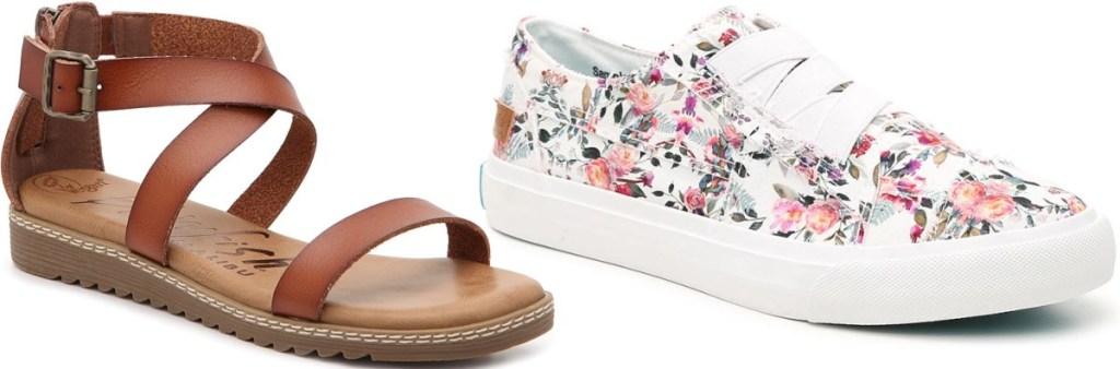 blowfish sandal and sneaker