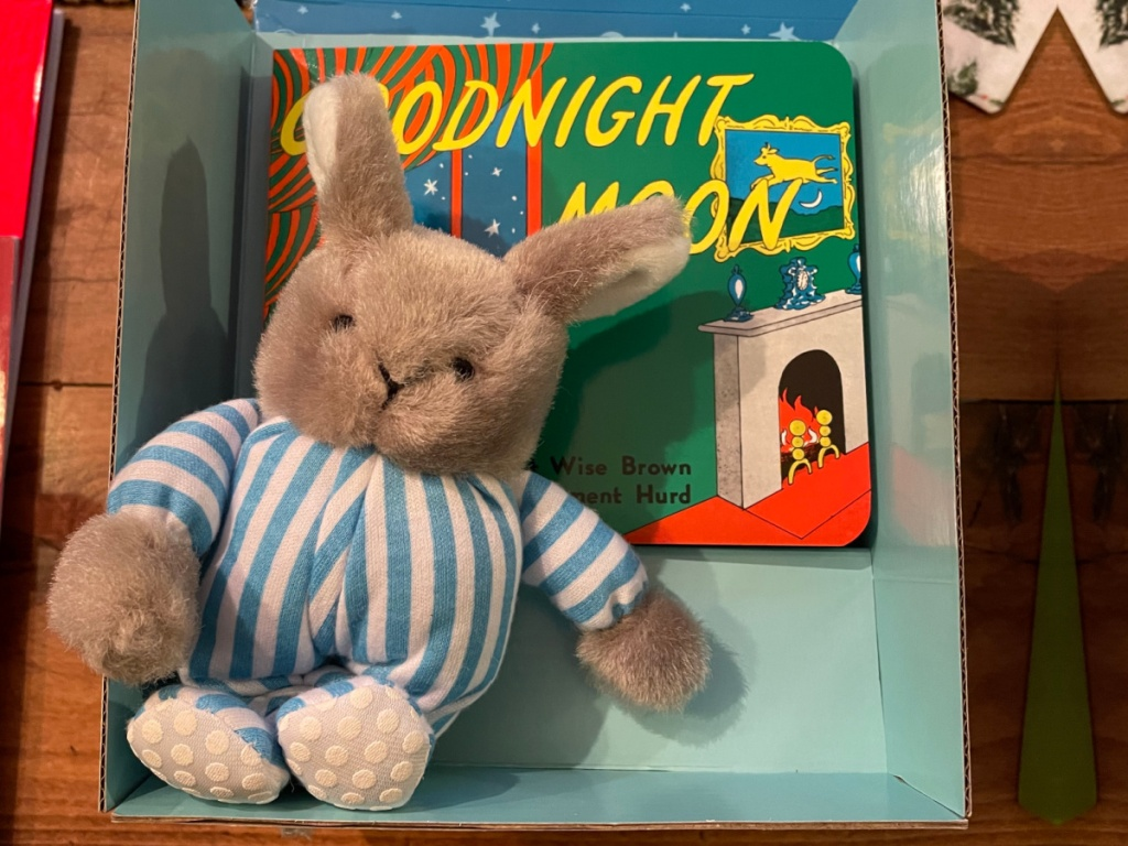 goognight moon board book and plush