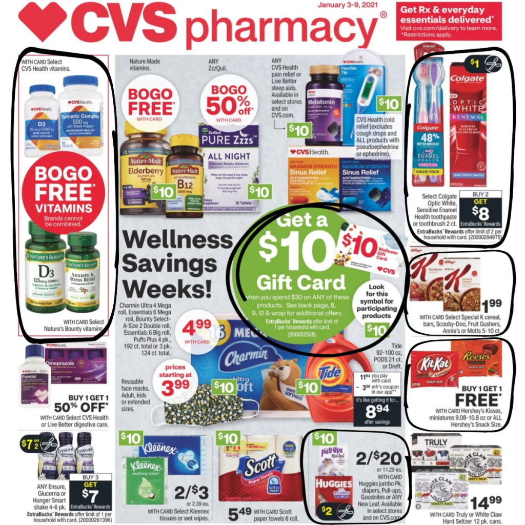 CVS Weekly Ad January 3rd - 9th 1st page