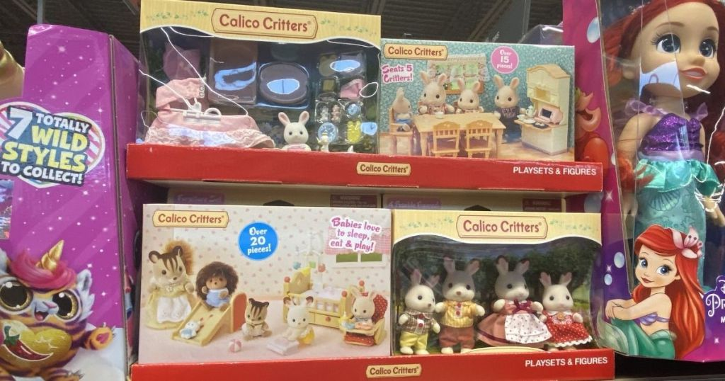 Calico Critters Playsets on shelf
