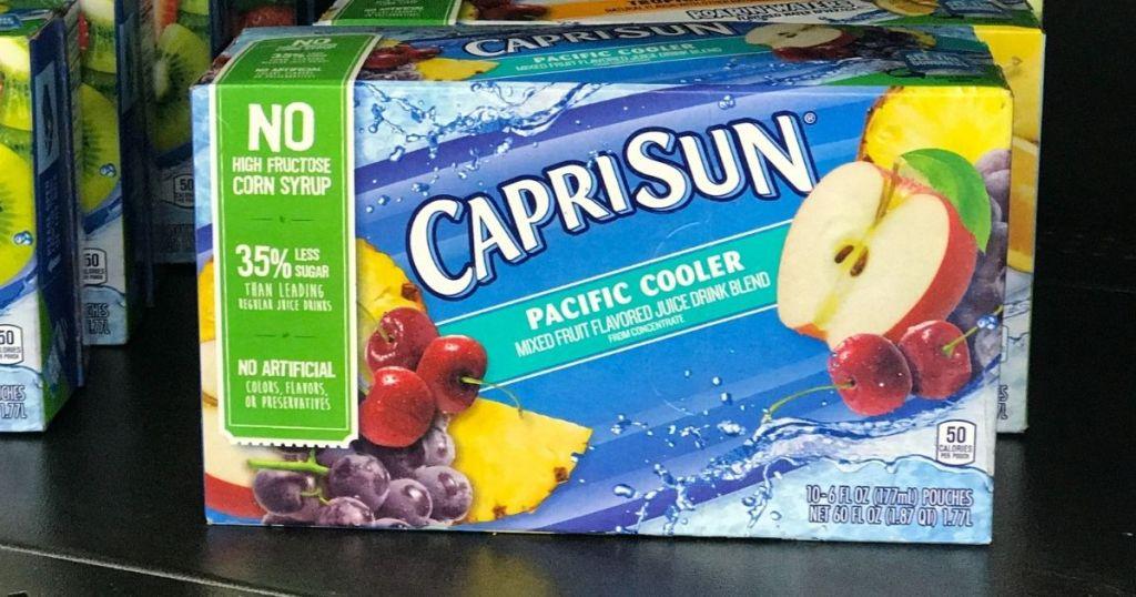 box of Capri Sun drinks