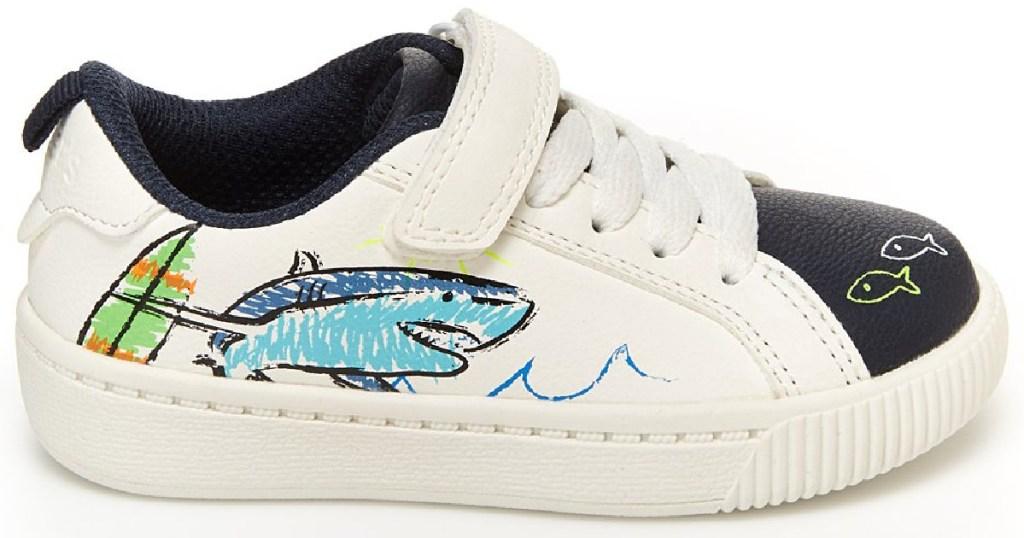 carter's boys shark sneakers