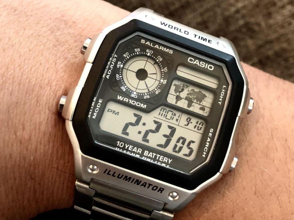 Casio World Time Illuminator Watch on wrist