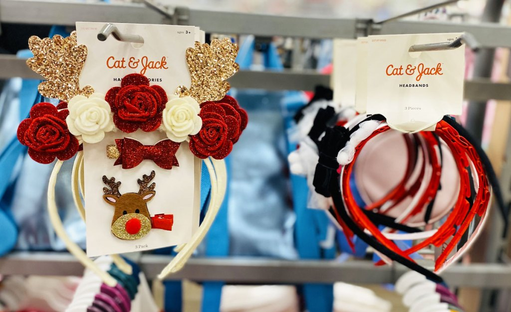 two pairs of girls cat & jack headband sets on display rack at target