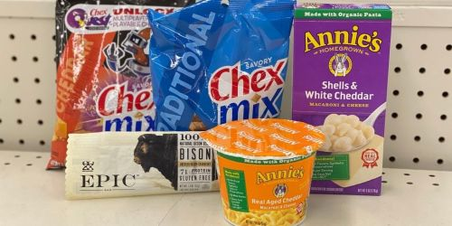 Annie's Mac & Cheese, Chex Mix, or Epic Bars Only 66¢ Each After CVS Rewards