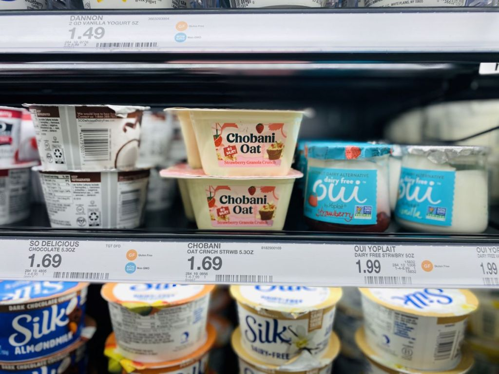 yogurt in cooler at Target