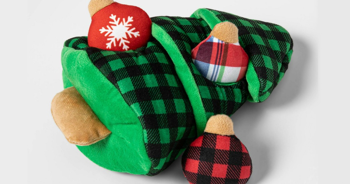 dog toys christmas tree and ornaments