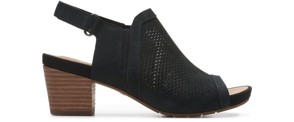 Clarks Womens Nubuck Un Palma Go Leather Sandal