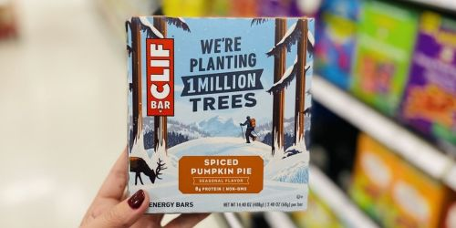 CLIF Bar Spiced Pumpkin Pie 6-count Only $3.59 at Target (Regularly $6) + More CLIF Deals