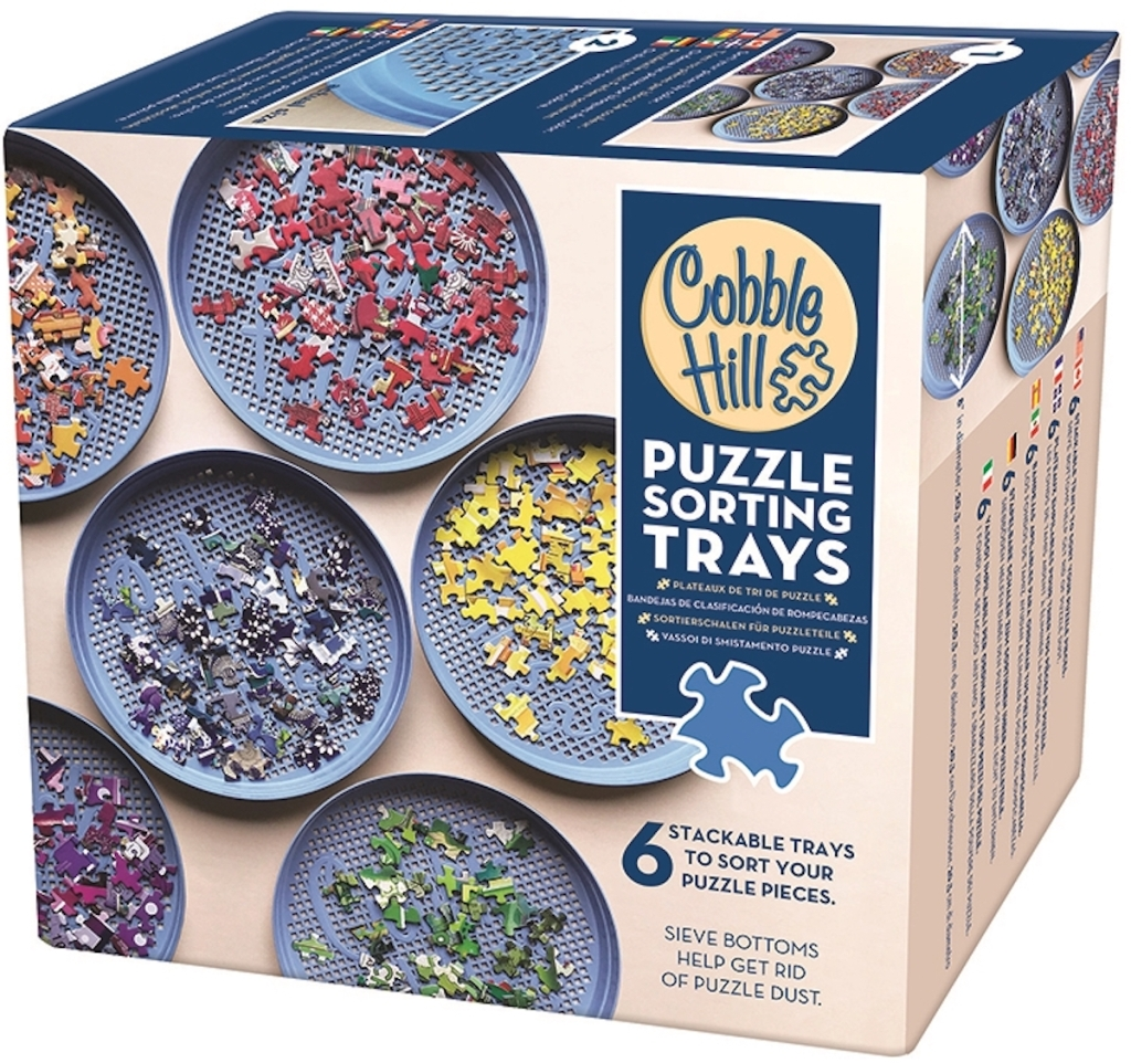 box of Cobble Hill Puzzle Sorting Tray Set of Six