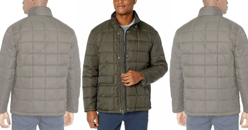 3 views of Cole Haan Puffer Jacket
