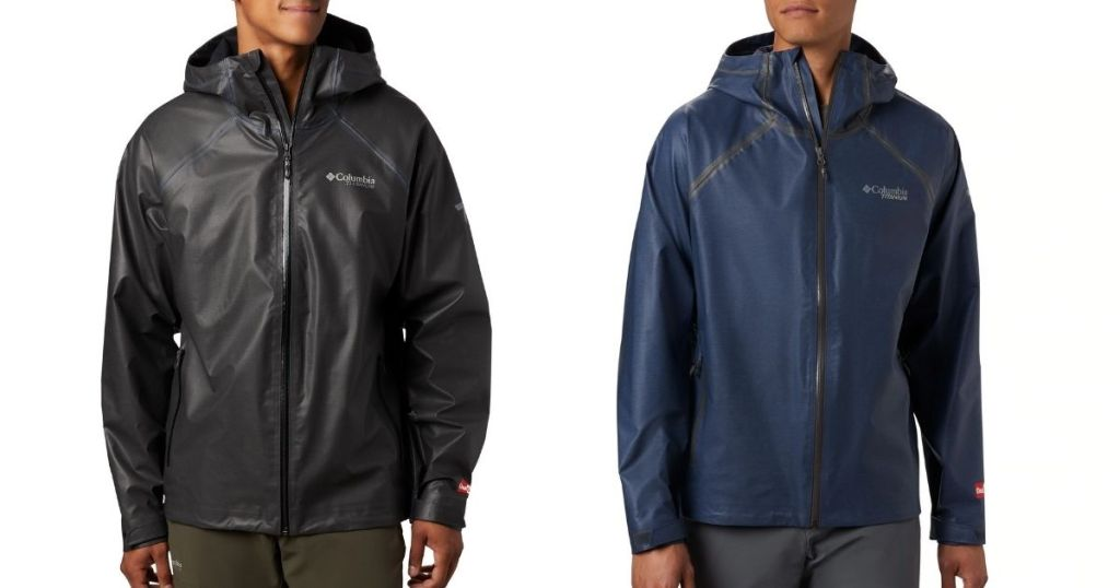 Columbia OutDry EX Reign Jacket in black and blue