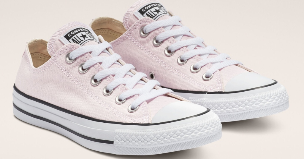 light pink chuck taylor shoes
