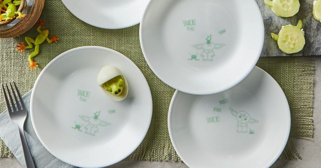 The Child plates on a table