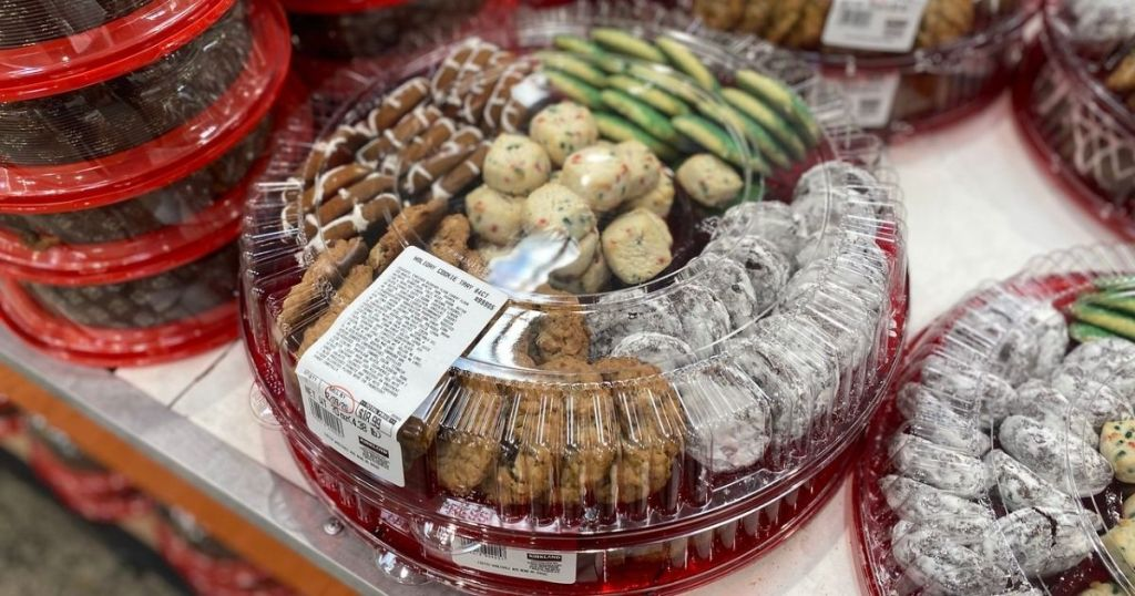 Costco holiday cookie platter