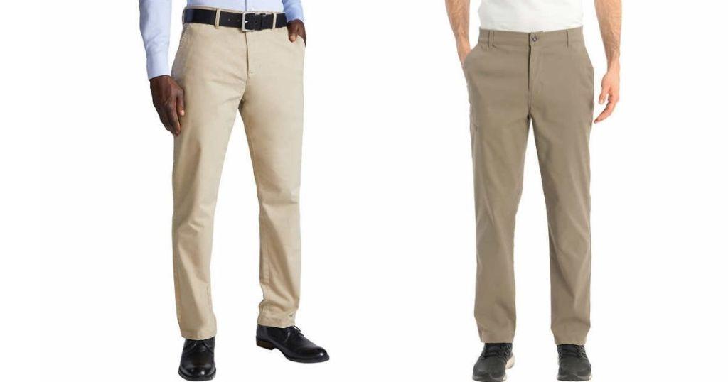 dua pria mengenakan celana panjang