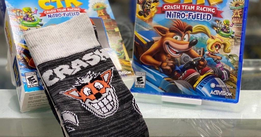 Crash Team Racing Nitro Fueled Bundle with Socks
