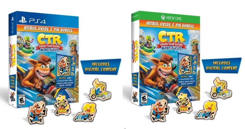 Crash Team Racing Nitro Fueled Pins Bundle for PS4 and Xbox1