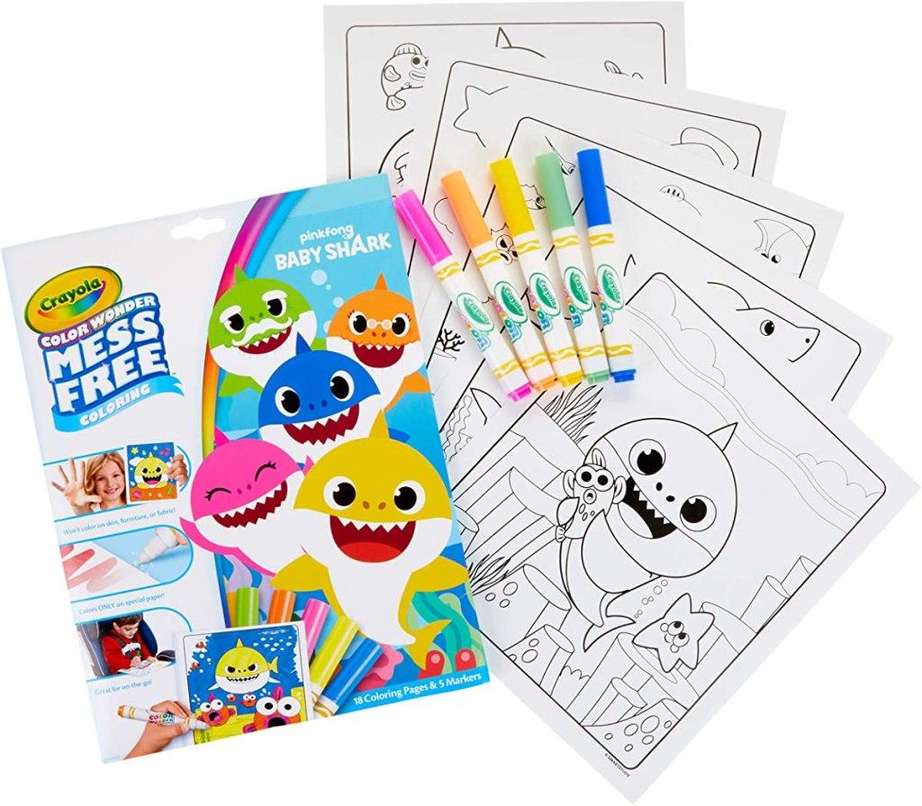 Crayola Color Wonder Baby Shark set