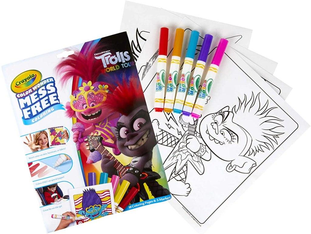 Crayola Color Wonder Trolls set