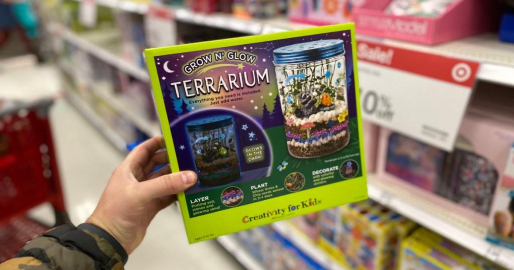 glow and grow terrarium