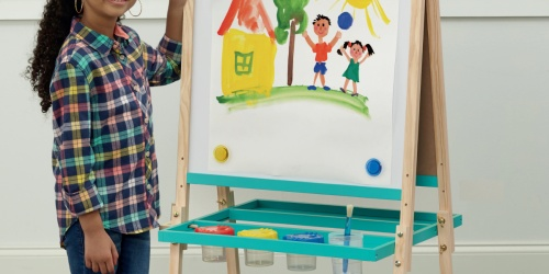 Double-Sided Wooden Floor Easel Only $19.99 on Michaels.com (Regularly $70)