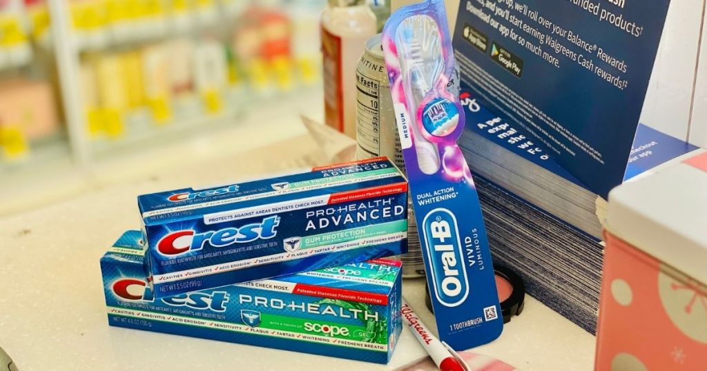 Crest and Oral B Products together with Walgreens pen