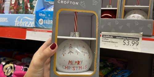 Christmas Ornament Sippers Just $3.99 at ALDI (Perfect for Santa's Milk & Cookies!)