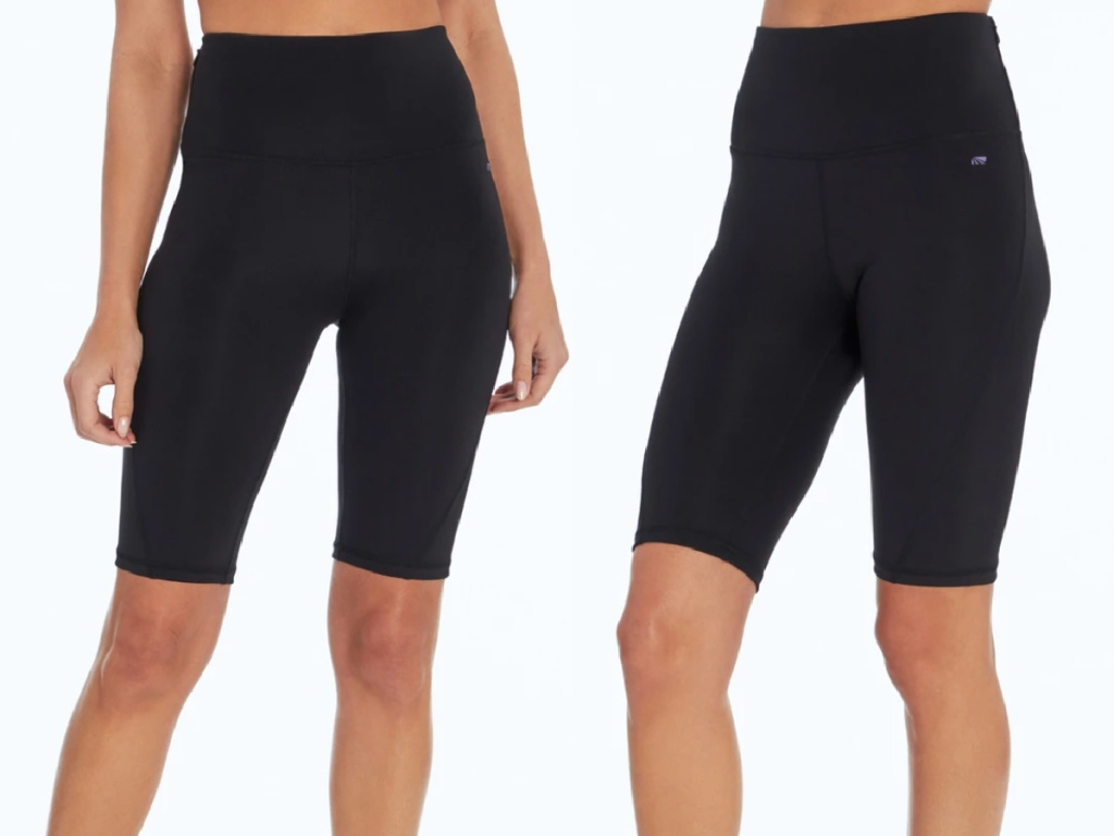 two bodies wearing black pair of Cycle House Speed Bermuda Short