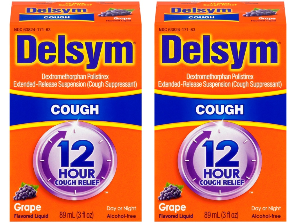 Delsym 3-Ounce Grape Flavor Adult Cough Suppressant Liquid