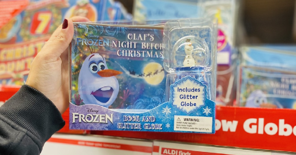 Toys from $6.99 at ALDI | Disney Book and Snowglobe Sets, Squishmallow Plush, & More