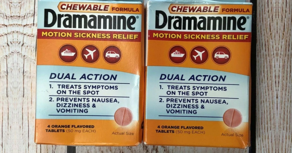 Dramamine Motion Sickness Chewable Tablets 4-Count Only 71¢ Shipped on Amazon (Regularly $5)