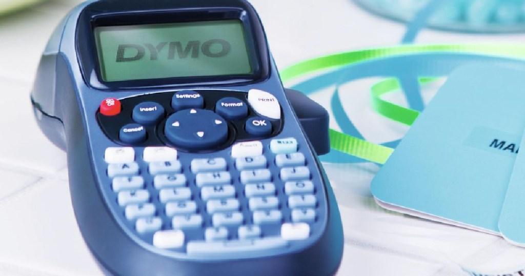 blue label maker and labels