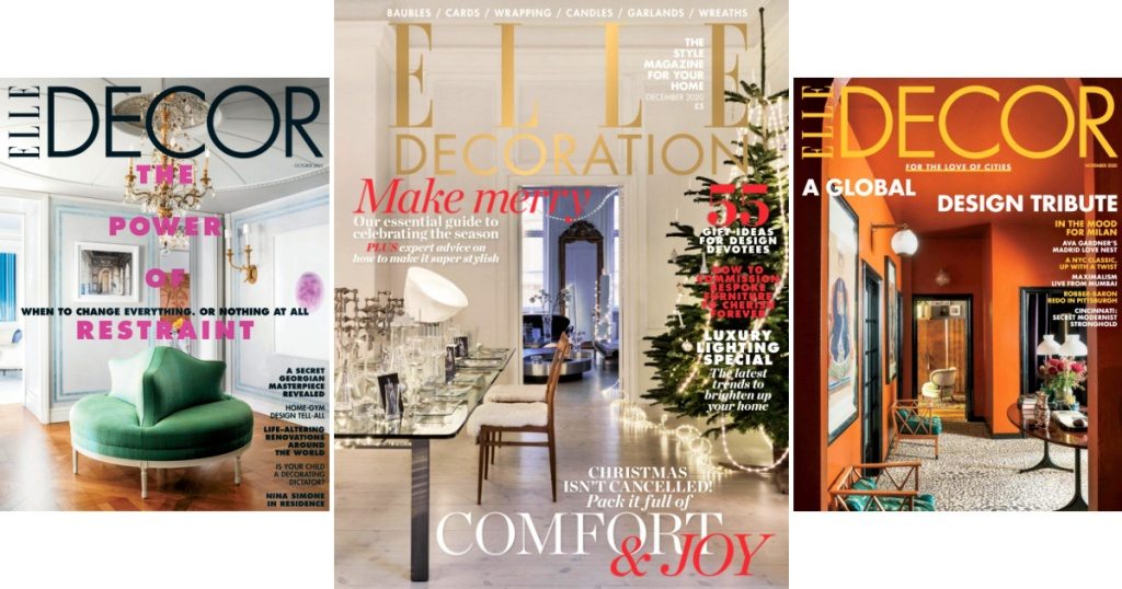Elle Decor Magazine Oct, Nov, Dec 2020