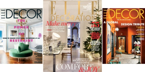 Complimentary 1-Year Elle Decor Magazine Subscription
