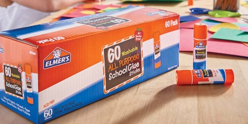 Elmer's School Glue Sticks 60-Pack Only $10.73 Shipped on Amazon | 18¢ Per Glue Stick
