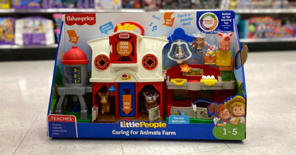 fisher price toy in aisle