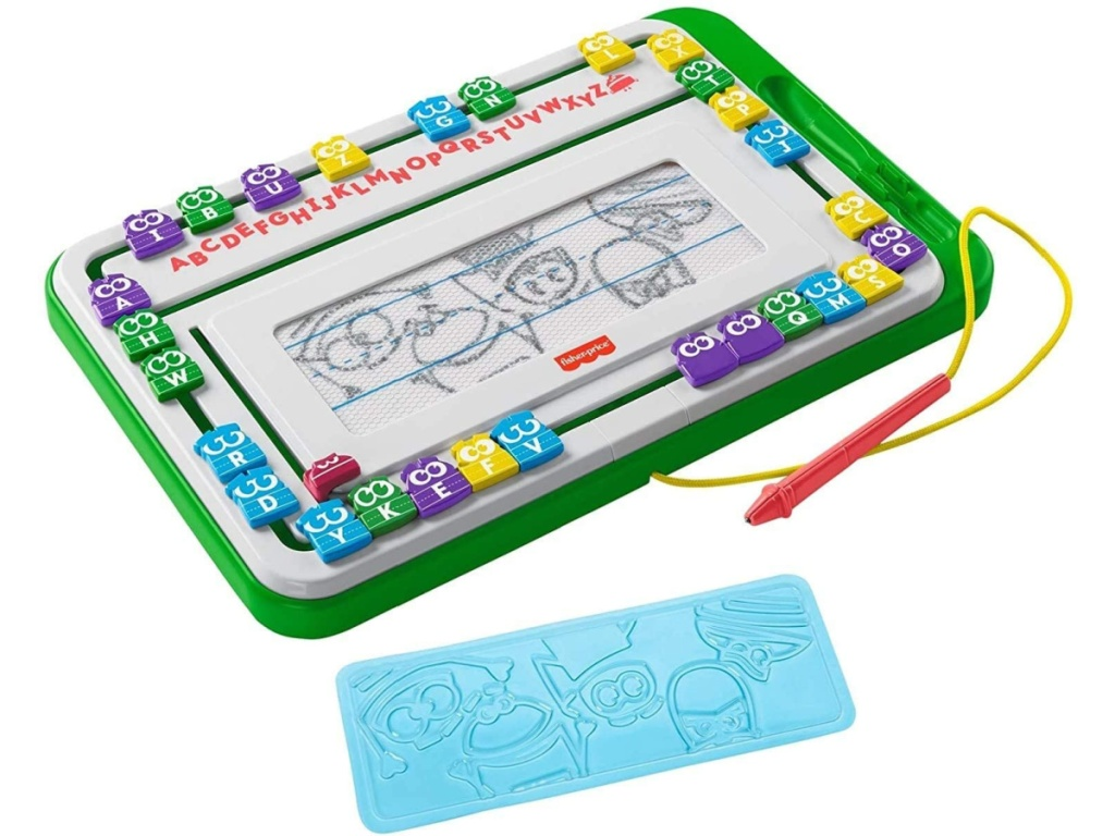toy slide writer and character stencil
