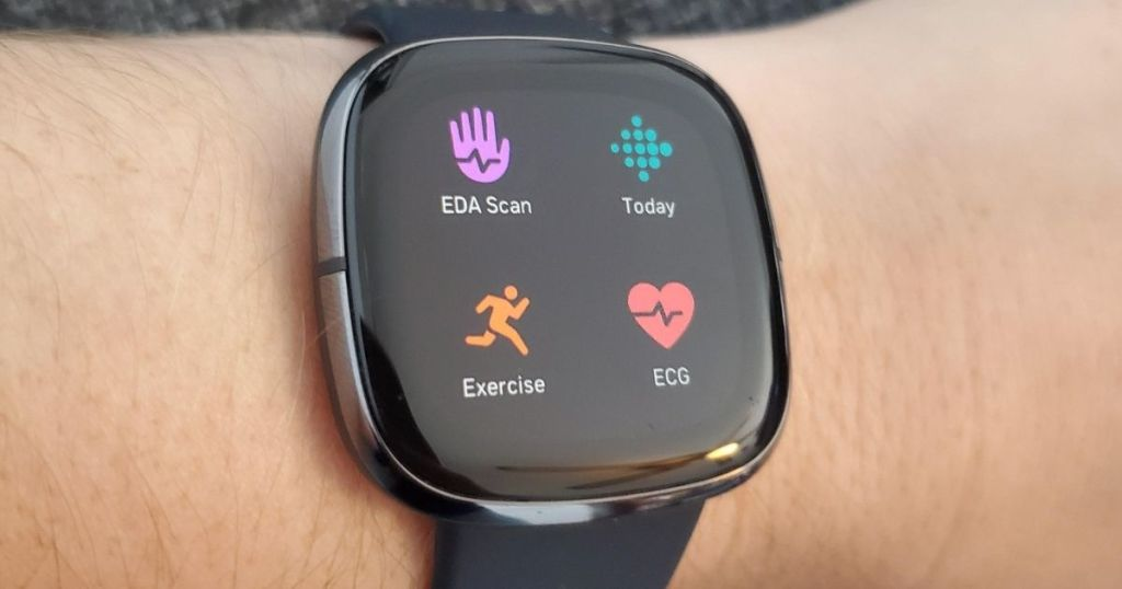 smartwatch on a persons wrist