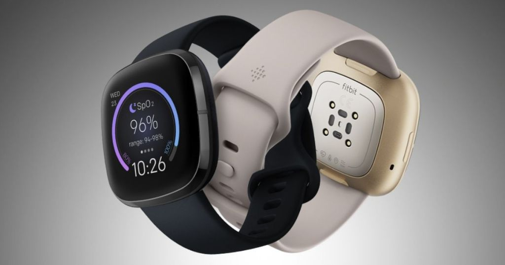 two smartwatches looped together