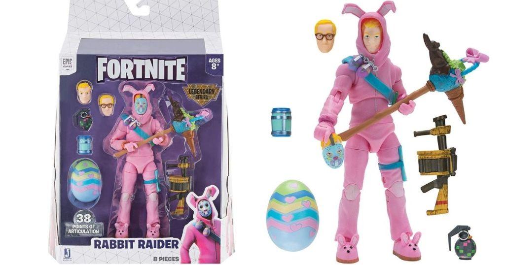 Fortnite rabbit raider box and toy