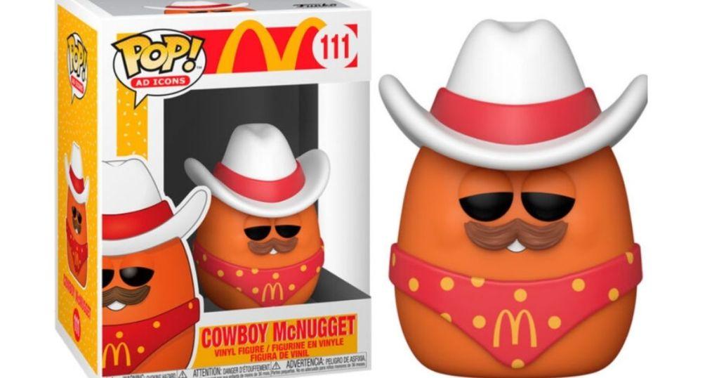 Funko McDonalds POP! McNugget Cowboy next to packaging