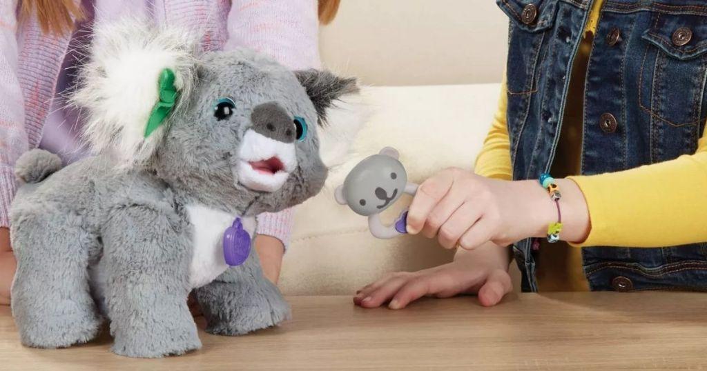 kids playing with FurReal Kristy Koala