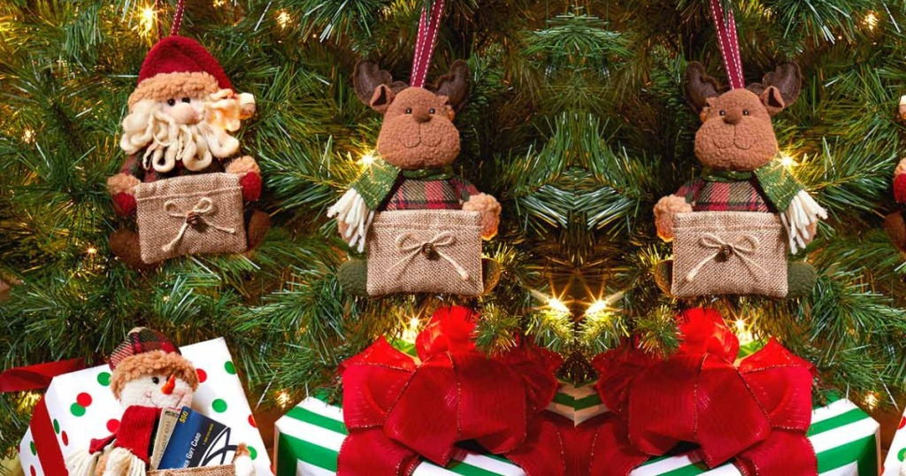 Gift Card Holders hanging in Christmas tree