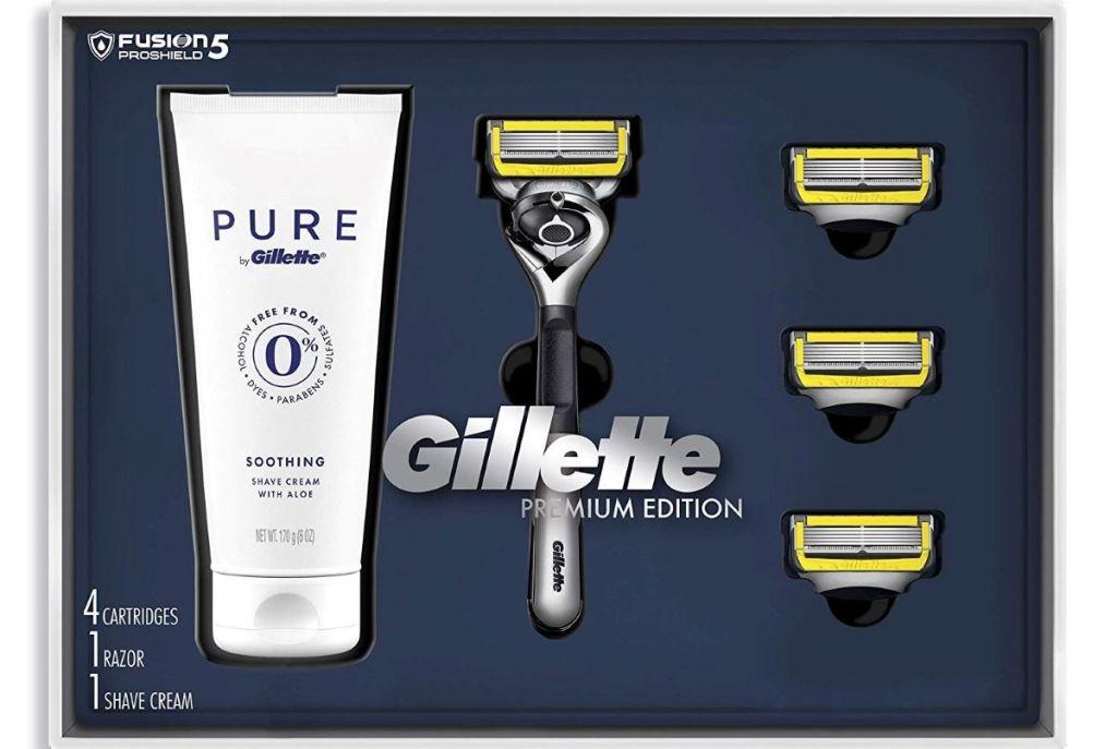 Gillette Gift Set with razor and shaving cream