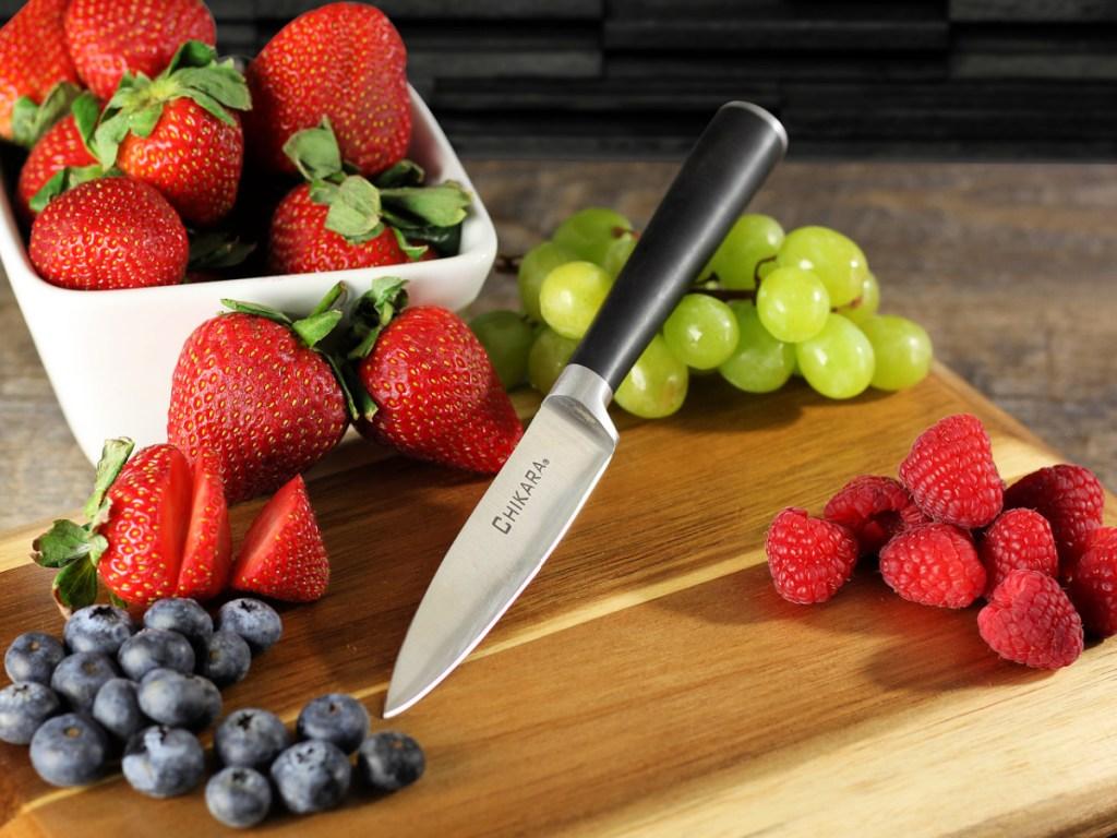 "Ginsu Chikara Series Japanese Steel 3.5"" Paring Knife"