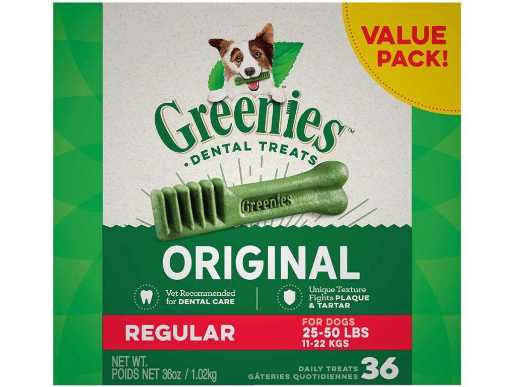 Greenies Original Regular Natural Dental Dog Treats for 25 - 50lb. dogs